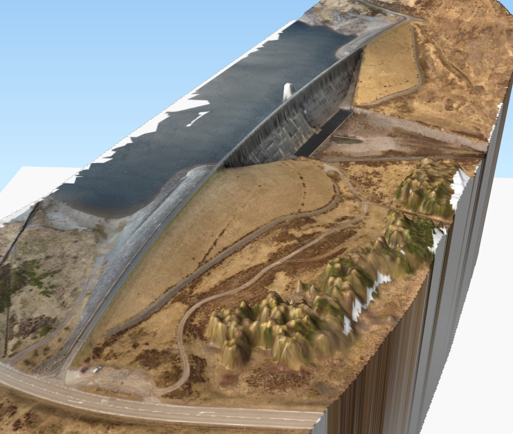 3d model of Glascarnoch Dam, Scotland